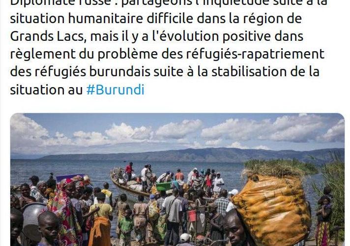 L'Ambassade de Russie au Burundi observe une situation positive et un retour massif de réfugiés burundais