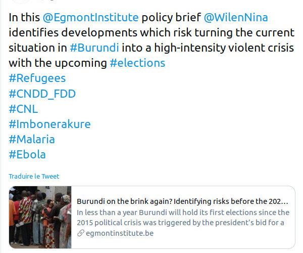 Justice : On sait désormais qui doit payer ! – La Belgique, responsable de l'Insurrection de 2015 au Burundi