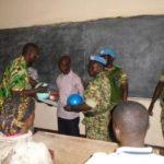 Remise de l'aide aux élèves du Lycée Moderne de Sibut en RCA