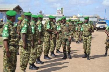 Visite du Commandant de la Force AMISOM au contingent burundais