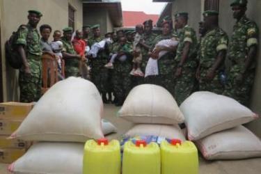 Acte de solidarité par le 49ème bataillon AMISOM
