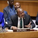 Monsieur l'Ambassadeur Albert SHINGIRO, Représentant Permanent du Burundi auprès des Nations Unies à l'occasion du briefing du Conseil de Sécurité sur la situation au Burundi