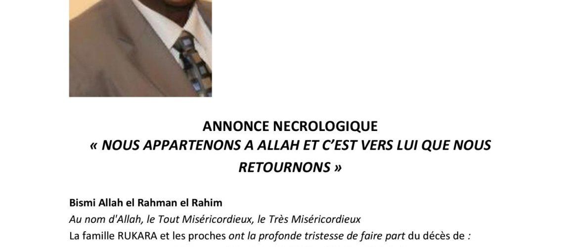 Nécrologie: L'ancien Ombudsman, Honorable Cheikh Mohamed Rukara est décédé hier à Bruxelles