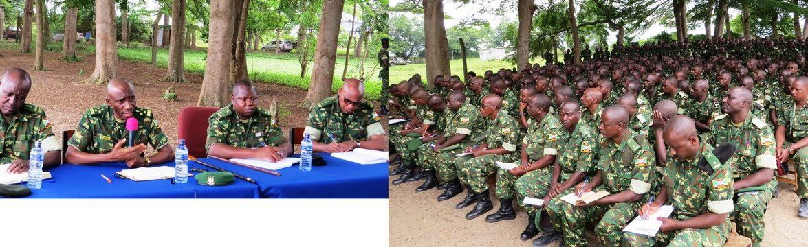 Causerie moral aux militaires du 50ème bataillon AMISOM