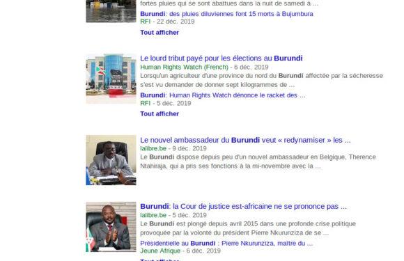 La Belgique et la France mènent une guerre médiatique permanente et illégale contre le Burundi