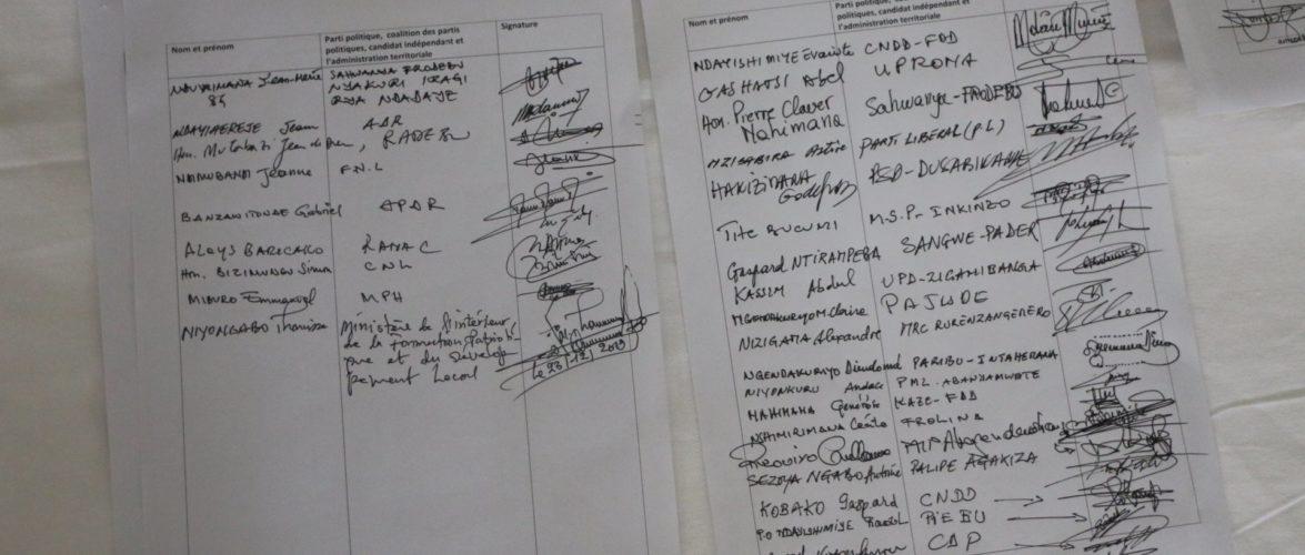 Elections 2020 : Les partis du Burundi signent un code de bonne conduite