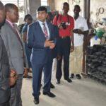 Le Commissaire Général de l'OBR visite les usines Iron and steel et BRA plastex