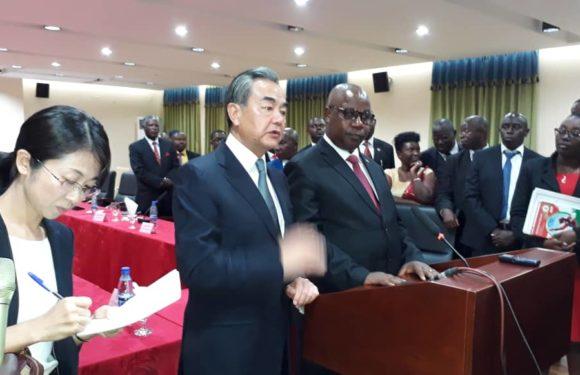 Burundi : Visite de travail du Ministre Chinois des Affaires Etrangères, M. WANG YI.
