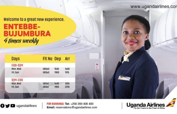 Burundi / Ouganda  : Uganda Airlines ouvre sa ligne ENTEBBE – BUJUMBURA