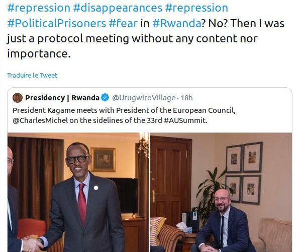 33ème Sommet de l'Union Africaine (UA) : Rencontre entre M. Paul KAGAME (RWANDA) et M. Charles MICHEL (BELGIQUE, UNION EUROPEENNE )