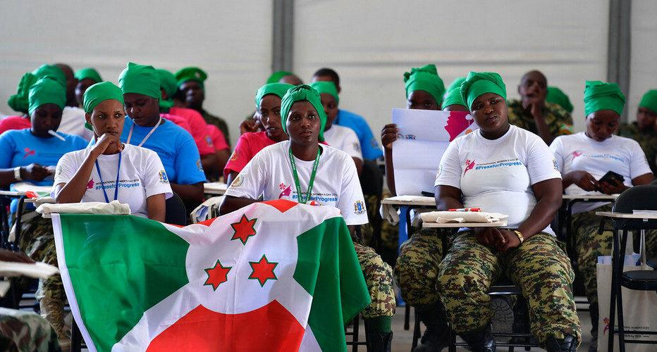 Les femmes militaires de l'armée du Burundi FDNB à l'AMISOM