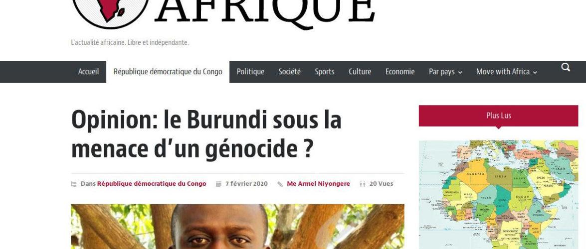 La Belgique remue le couteau dans la plaie des victimes du Génocide du Burundi