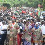 Gitega: les militants du CNDD-FDD manifestent leur soutien à leur candidat aux présidentielles