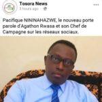 Mr Pacifique Nininahazwe se métamorphose en Porte-parole du (Palipehutu) CNL et chef de campagne sur les réseaux sociaux!