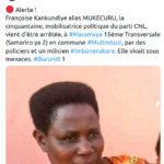 BUJUMBURA - MITUMBUZI : Arrestation d'un réseaux dormant - terroriste- CNL / Burundi