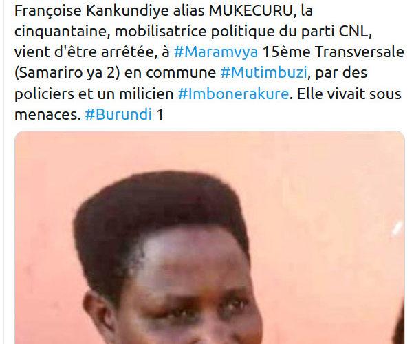 BUJUMBURA – MITUMBUZI : Arrestation d'un réseaux dormant – terroriste- CNL / Burundi