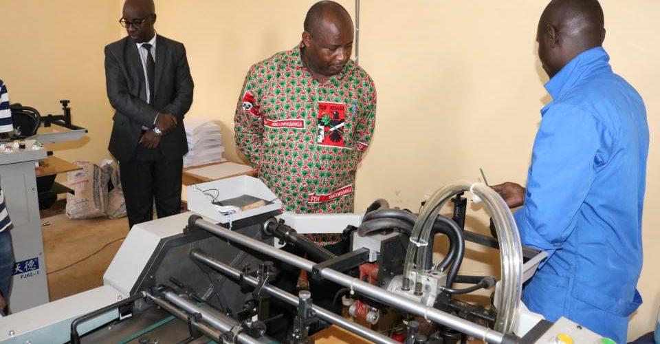 Visite de l'imprimerie du CNDD-FDD de TANKOMA à GITEGA / Burundi