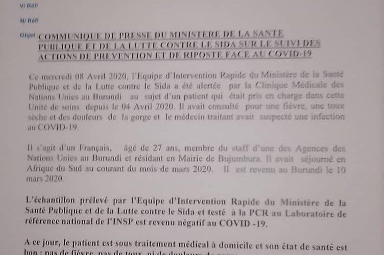 COVID-19 : Un Français testé négatif après un trip en Afrique du Sud / Burundi
