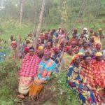 Le CNDD-FDD, en colline KAYANGE, était en réunion en plein air , KIGANDA, MURAMVYA / Burundi