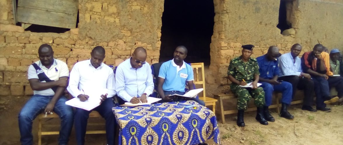 Une  causerie franche  avec les citoyens de la colline BUHOGO, NYABIHANGA à MWARO / Burundi