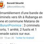La police neutralise un réseau du grand banditisme à MATANA,  BURURI / Burundi