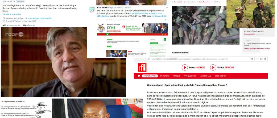 Suivre et Comprendre  le Complot de la Belgique sur les Elections2020 au Burundi