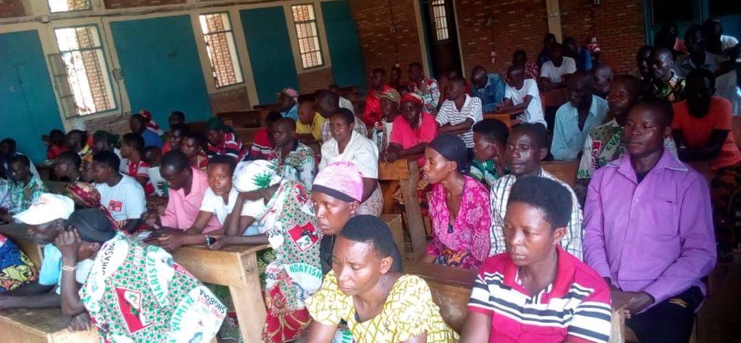 Le CNDD-FDD, commune GISURU, prépare les Collinaires 2020, RUYIGI / BURUNDI