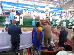 Le Couple Présidentiel prend part à la célébration de l'Assomption à Mugera