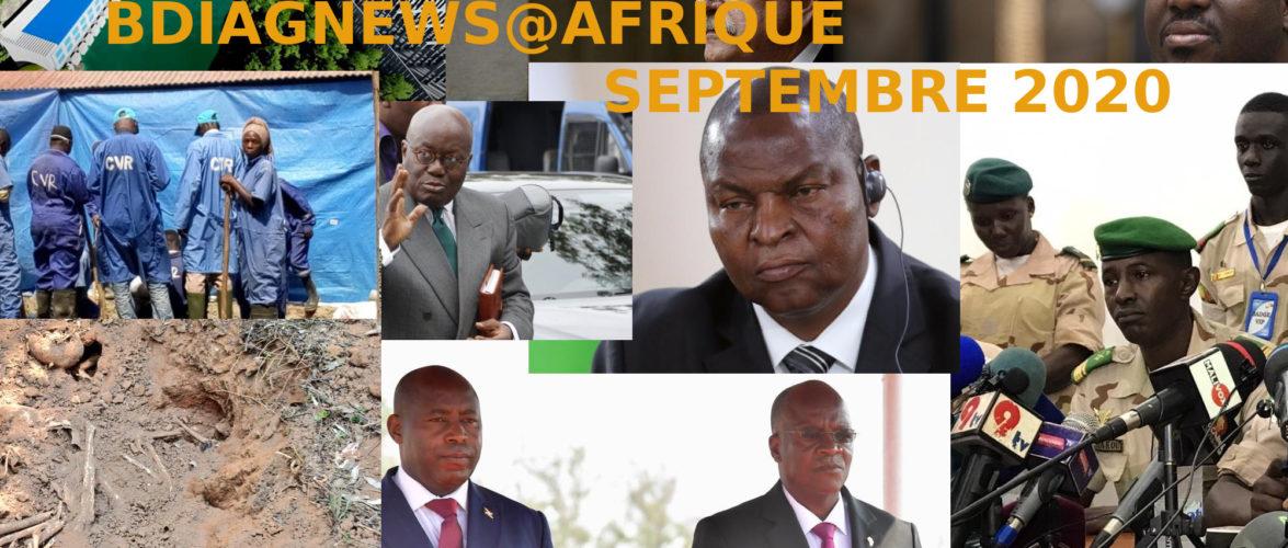BURUNDI /  Petit tour sur l'actualité sur KAMA ou l' AFRIQUE , AFRICA – SEPTEMBRE 2020 / 20-09-2020