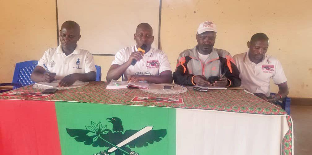 Le CNDD-FDD RUYIGI rencontre ses nouveaux élus collinaires / BURUNDI