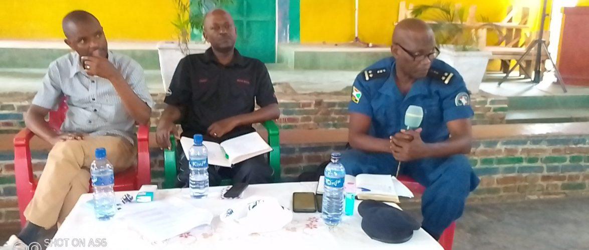 Evaluation de la sécurité sur la colline MUSENYI, en commune MPANDA,  BUBANZA / BURUNDI