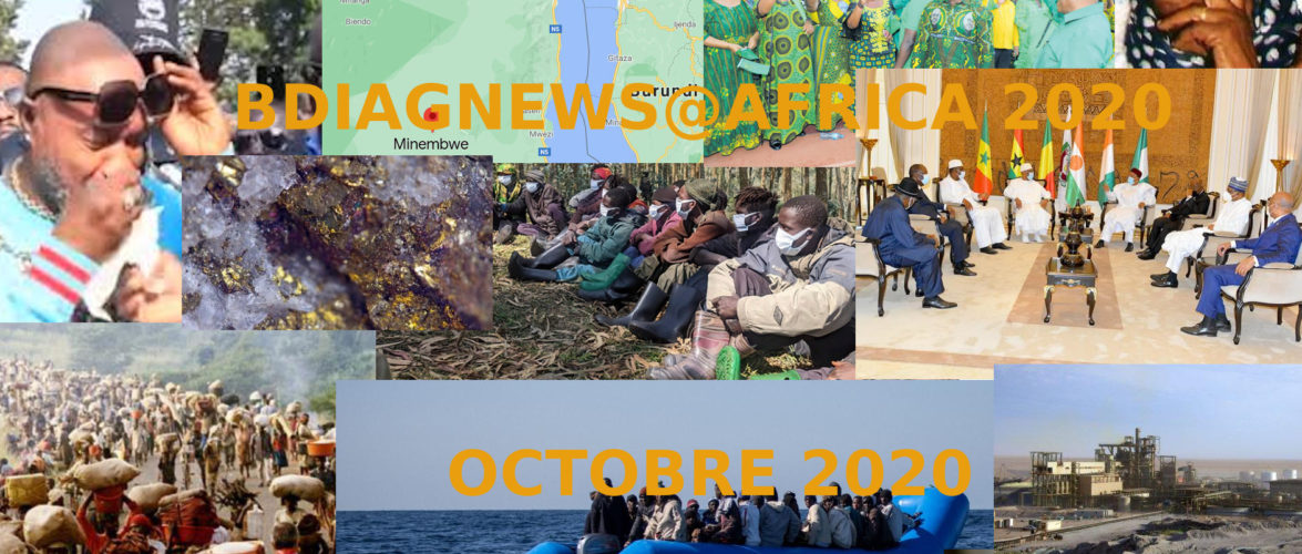 BURUNDI / Petit tour sur l'actualité sur KAMA ou l' AFRIQUE , AFRICA – OCTOBRE 2020 / 11-10-2020