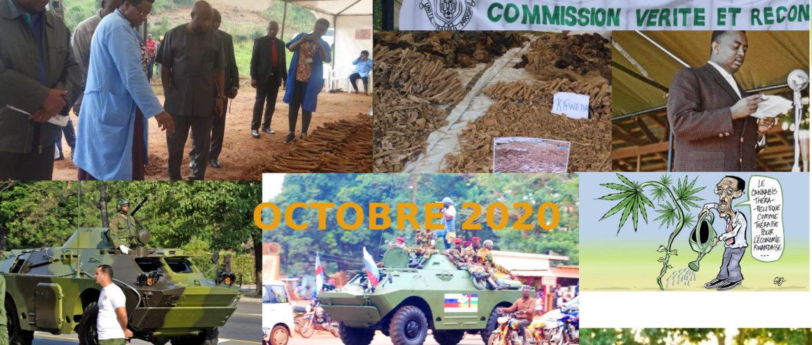 BURUNDI / Petit tour sur l'actualité sur KAMA ou l' AFRIQUE , AFRICA – OCTOBRE 2020 / 18-10-2020