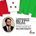 Le Jeudi 21 octobre 1993,  - BUYOYA -  passait à l'action en assassinant Feu NDADAYE Melchior, Président du BURUNDI