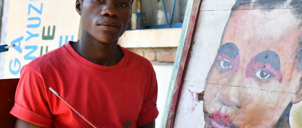 BUKURU Mechak est portraitiste à RUMONGE / BURUNDI