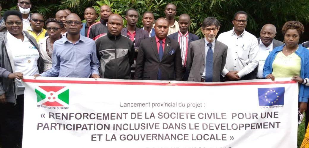 BURUNDI / UNION EUROPEENNE : Lancement le projet – Renforcement de la société civile – à KAYANZA