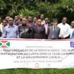 BURUNDI / UNION EUROPEENNE : Lancement le projet - Renforcement de la société civile - à KAYANZA