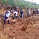 BURUNDI : TRAVAUX DE DÉVELOPPEMENT COMMUNAUTAIRE - Curage des caniveaux sur la route BUTEZI- RUYIGI