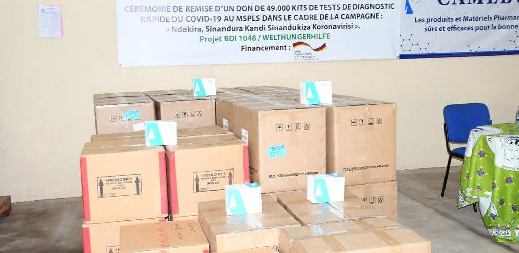 BURUNDI : Don allemand de 49.000 kits de tests rapides COVID-19