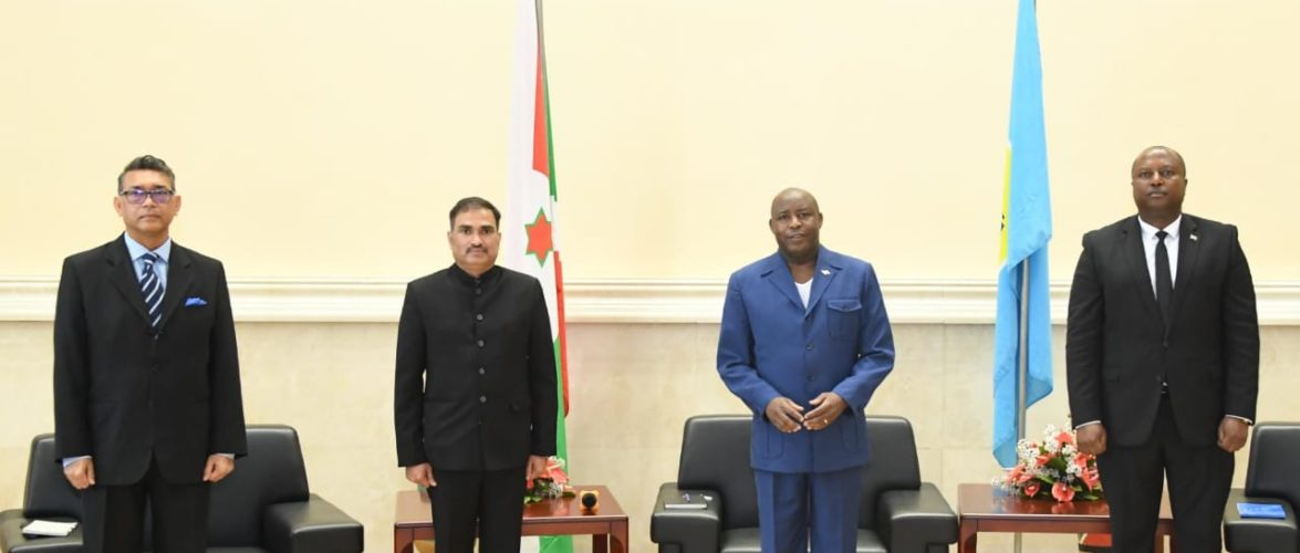 BURUNDI : Présentation des Lettres de Créance de l'Ambassadeur d'Inde