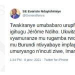 BURUNDI / DÉCÈS DE FEU NDIHO JEROME : Les condoléances ...