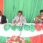 BURUNDI : Le Sénat fait une visite de travail en commune KANYOSHA / BUJUMBURA