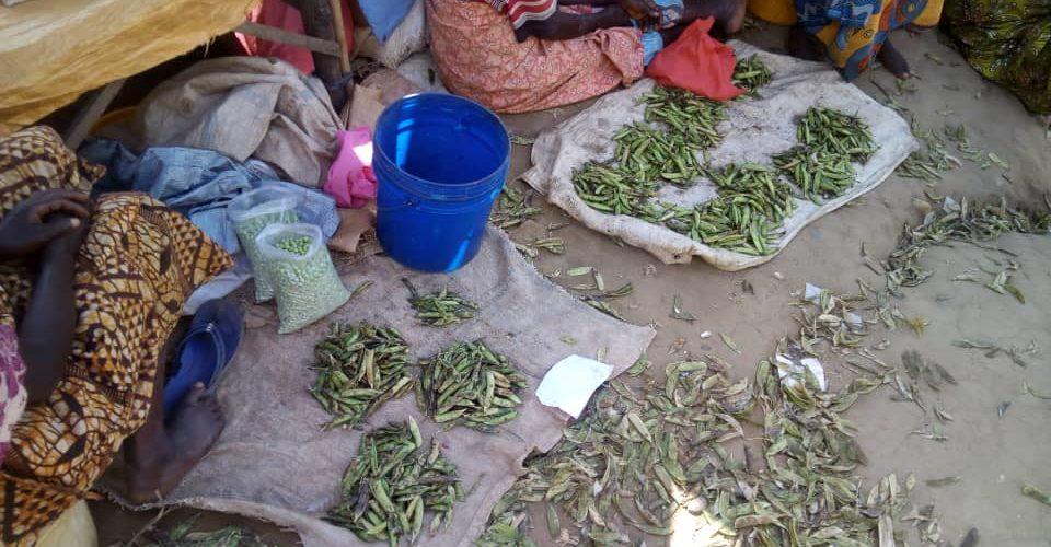 BURUNDI : Une légumière – commerçante du marché de KIVYUKA, MUSIGATI / BUBANZA