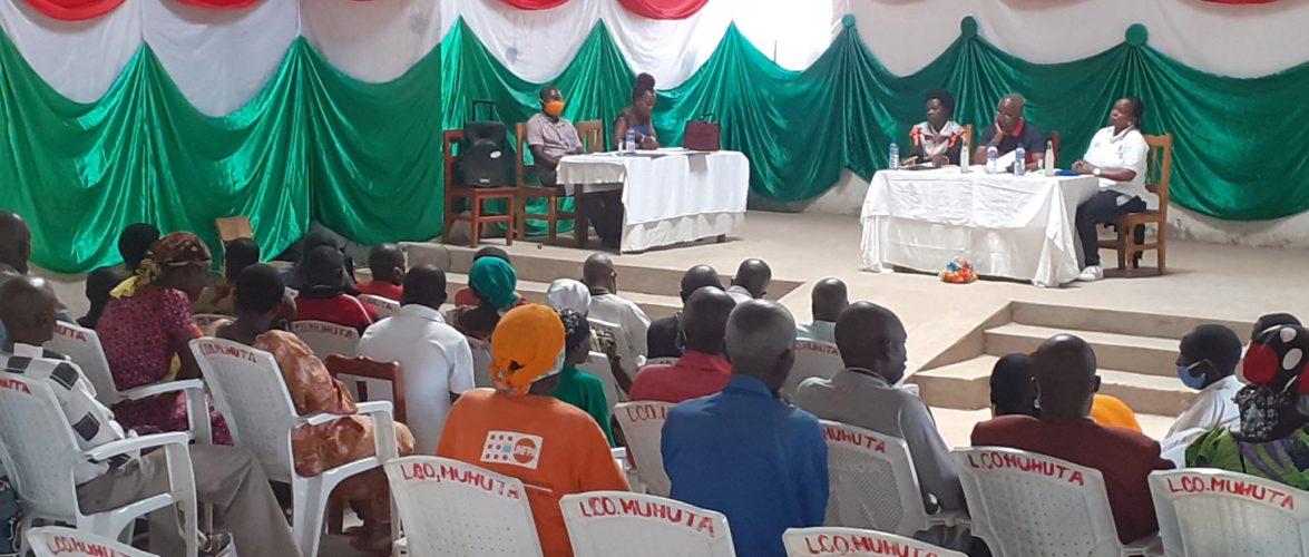 BURUNDI : Réunion des services communales déconcentrés à MUHUTA / RUMONGE