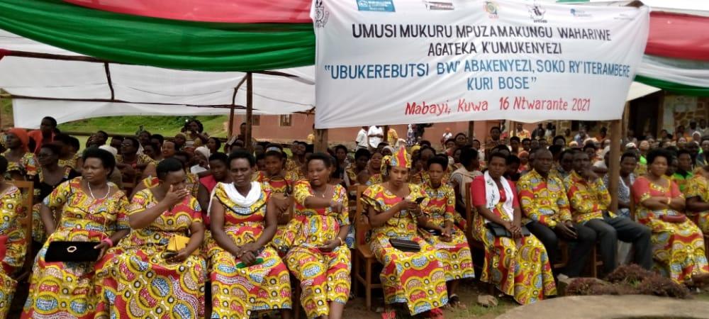 BURUNDI : Journée internationale des droits de la femme à MABAYI / CIBITOKE