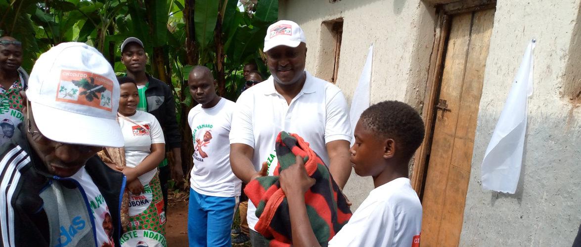 BURUNDI : Le CNDD-FDD de BUHIGA a construit des maisons pour les plus démunis / KARUSI