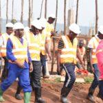 BURUNDI : Visite du chantier du CENTRE REGIONAL D'APPRENTISSAGE MULTIDISCIPLINAIRE à SHOMBO / KARUSI