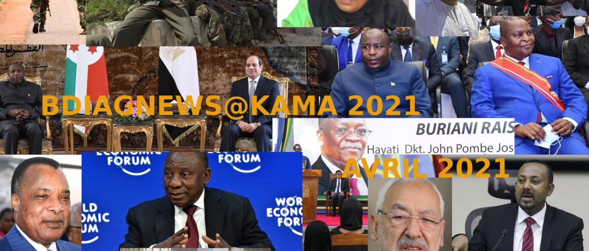 BURUNDI / Petit tour sur l'actualité sur KAMA ou l' AFRIQUE , AFRICA – AVRIL 2021 / 03-04-2021