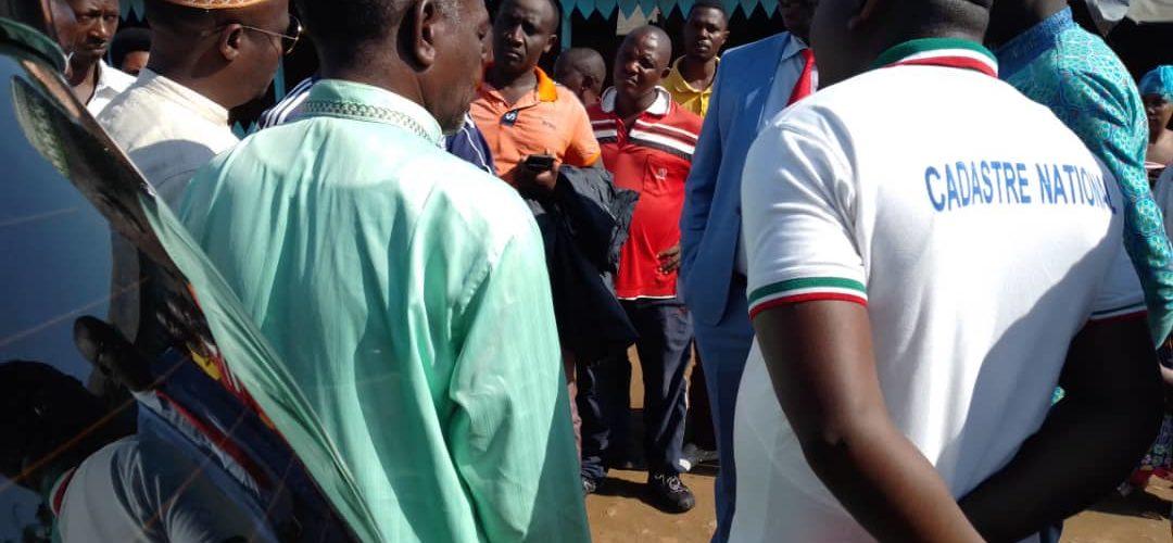 BURUNDI : La récolte des données cadastrales actualisées de BUYENZI à MUKAZA / BUJUMBURA