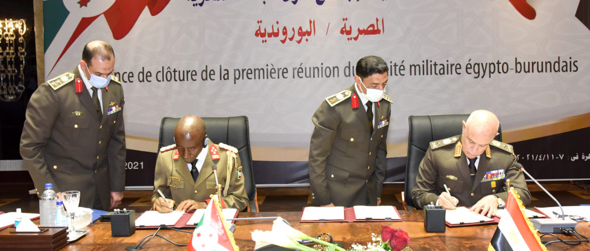 BURUNDI/ EGYPTE : Signature des accords militaires